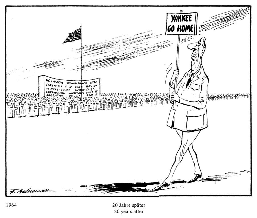 Cartoon by Behrendt on de Gaulle and NATO (1964)