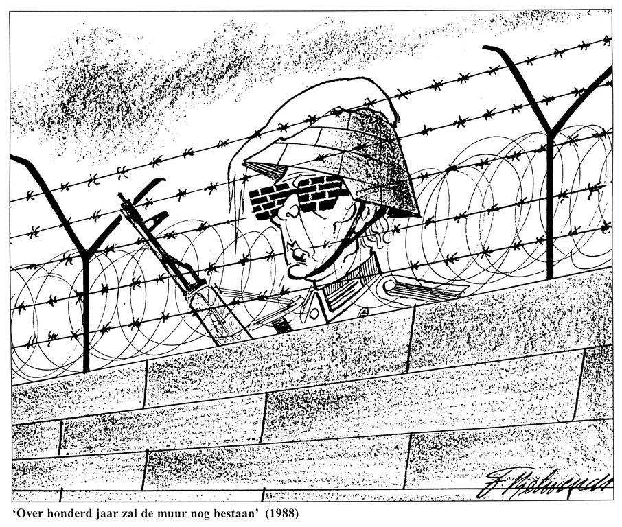 Cartoon by Behrendt on the GDR (1988)