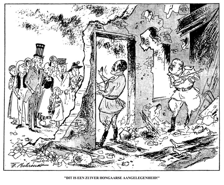 Cartoon By Behrendt On The Hungarian Uprising 1956