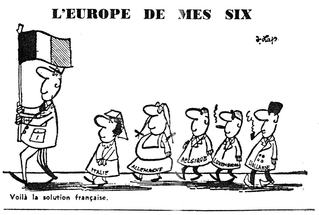 Cartoon by Lap on General de Gaulle's Europe (9 July 1965)