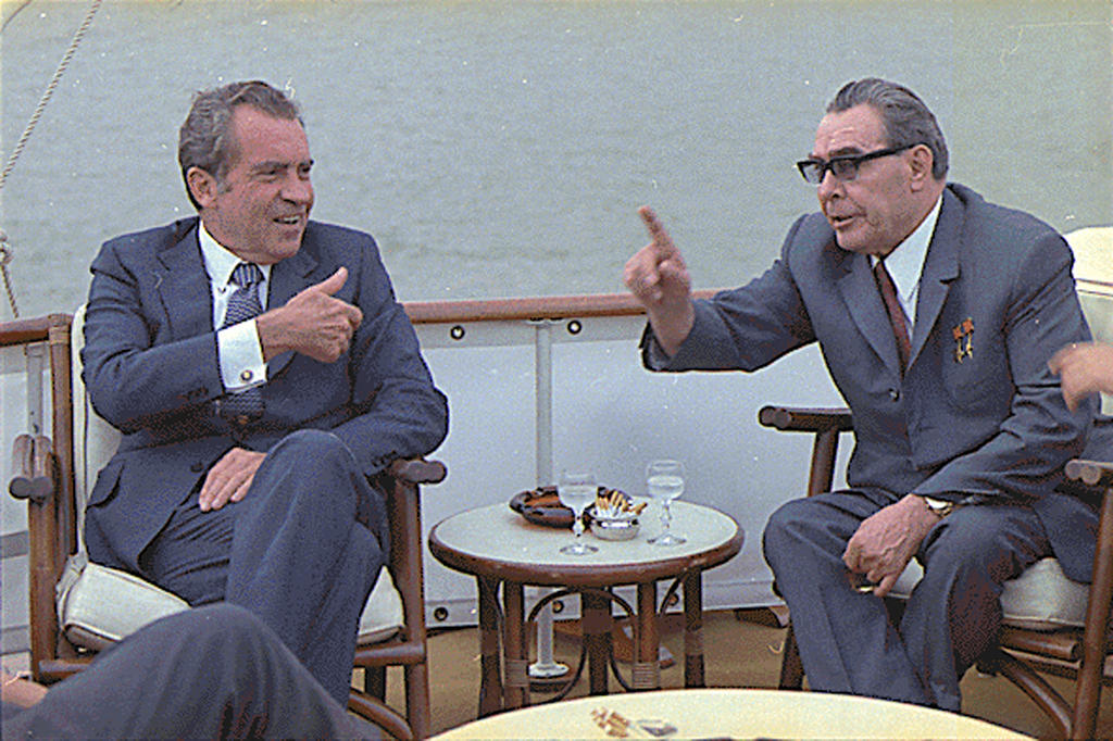 Richard Nixon et Leonid Brejnev (Washington, 19 juin 1973)