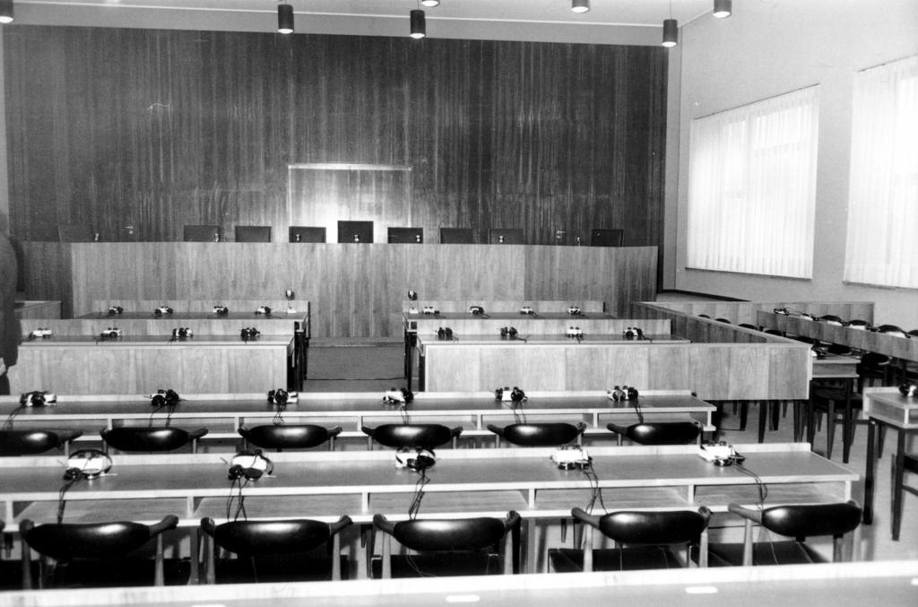 Courtroom in the Côte d'Eich building (Luxembourg, 1959-1972)