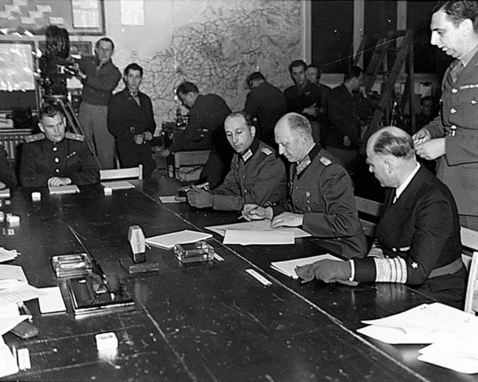 Surrender of Nazi Germany (Reims, 7 May 1945)