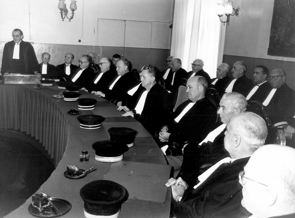 Judges in formal attire (Côte d'Eich, Luxembourg 1962)