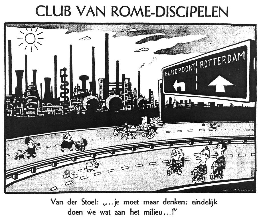 Cartoon by Opland on the oil crisis in the Netherlands (31 October 1973)