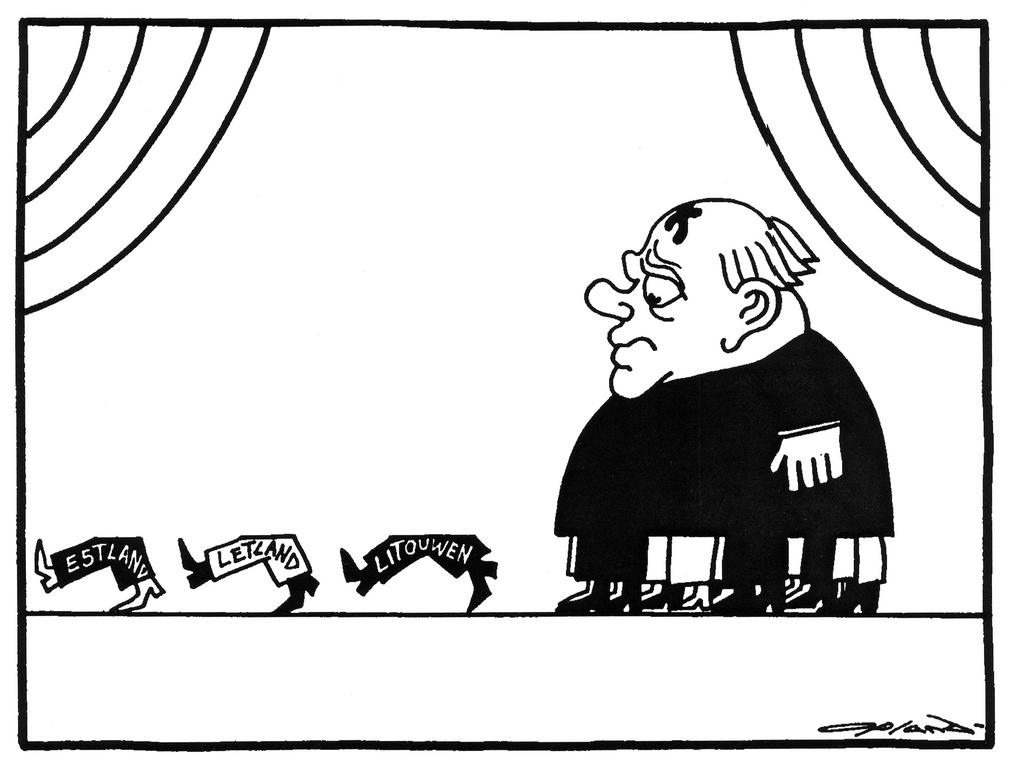 Cartoon by Opland on the Baltic States (27 October 1988)