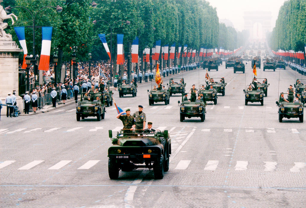 The Eurocorps on parade (Paris, 14 July 1994)