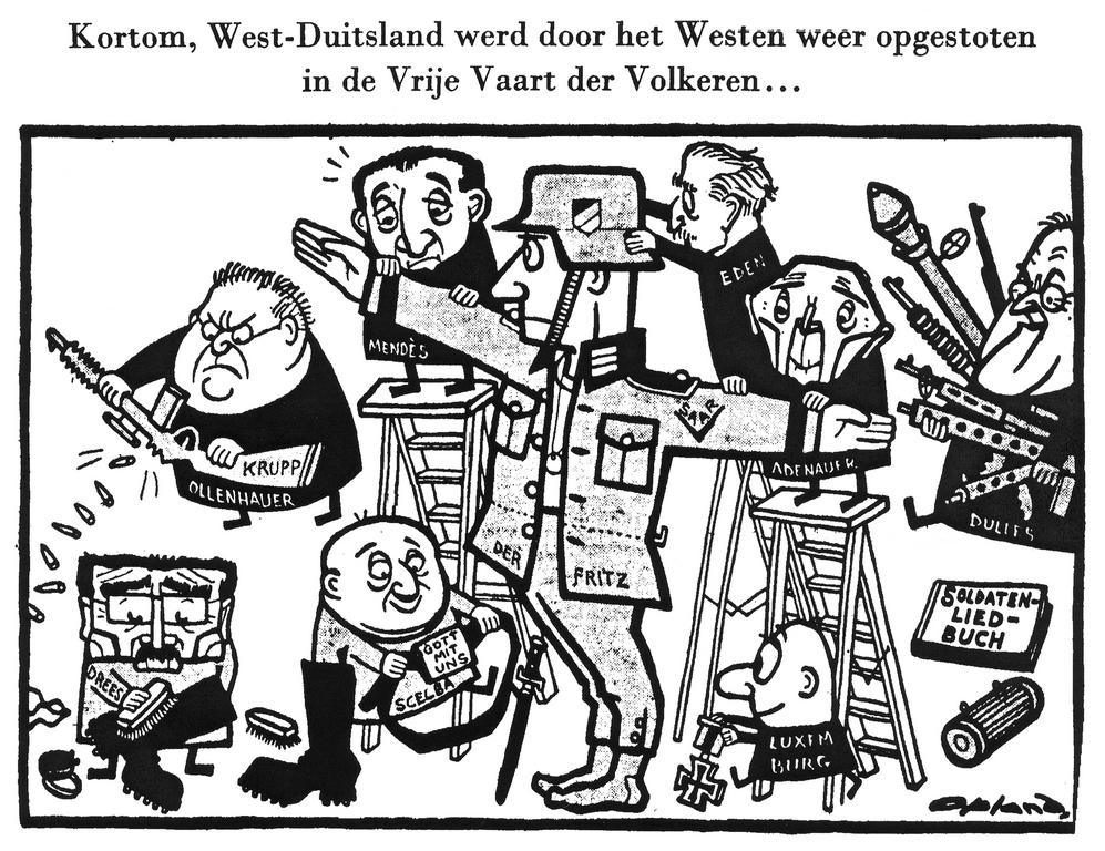 Cartoon by Opland on the New German Army (8 January 1955)