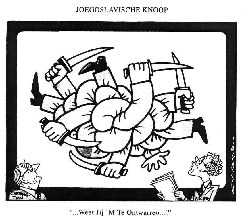 Cartoon by Opland on the Yugoslav conflict (19 August 1991)