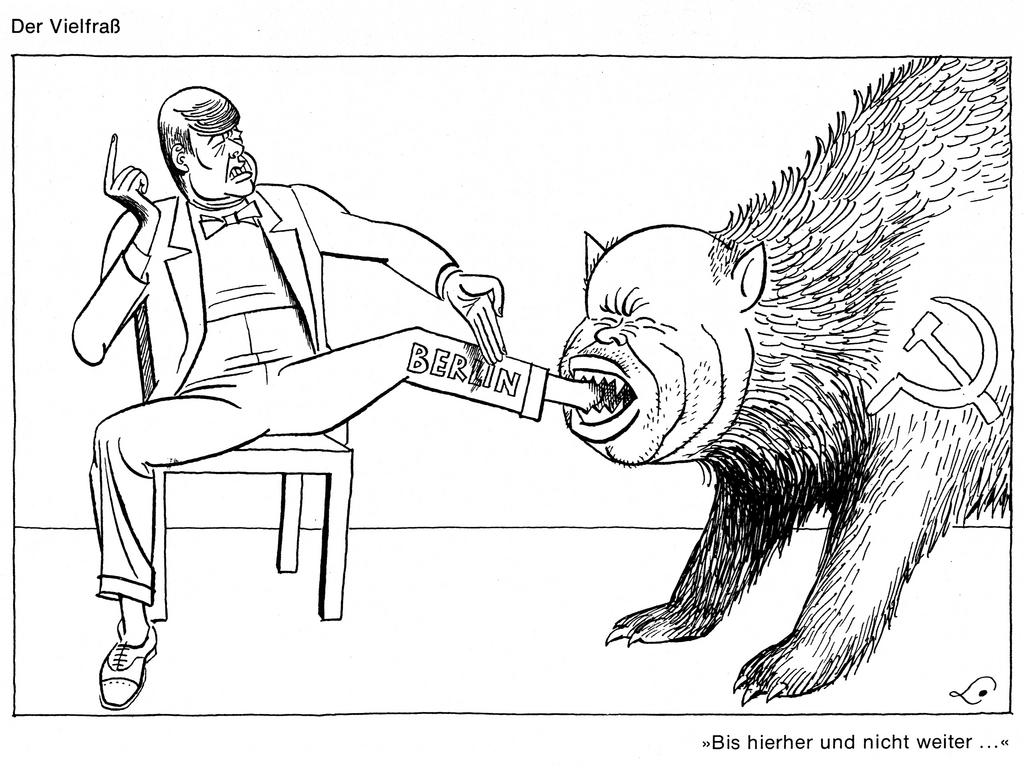 Cartoon by Lang on the Berlin question (1961)