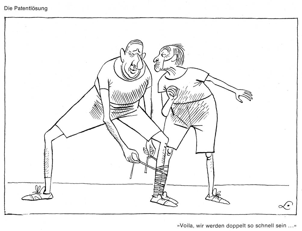 Cartoon by Lang on Franco-German rapprochement (26 January 1963)