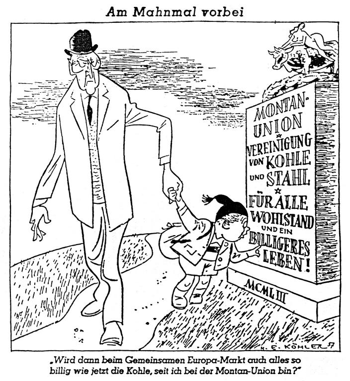 Cartoon by Köhler on the Common Market (19 October 1957)