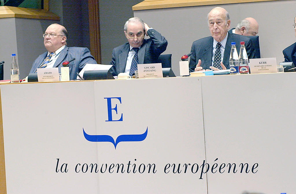 Presidential podium at the European Convention (20-21 January 2003)