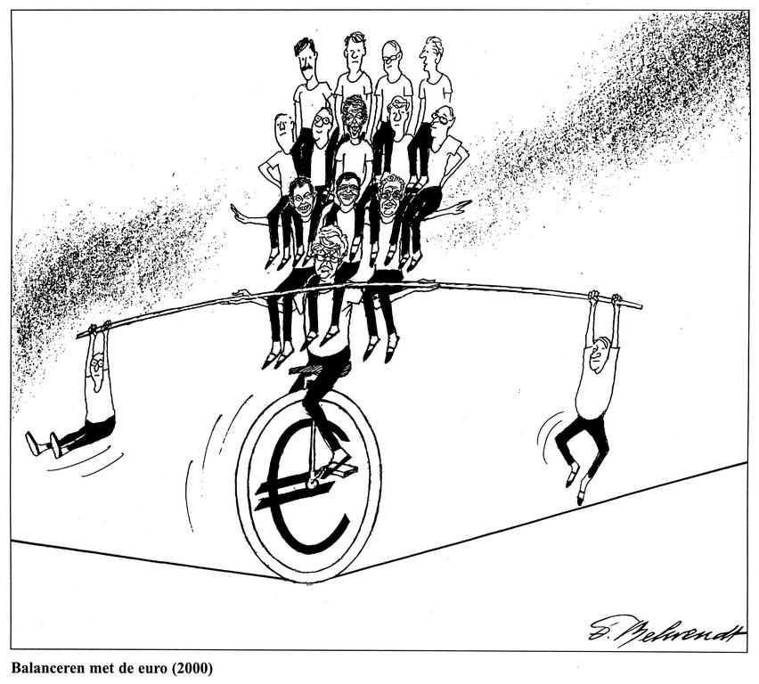 Cartoon by Behrendt on Economic and Monetary Union (2000)