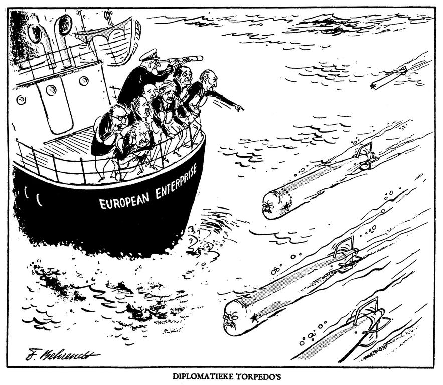 Cartoon by Behrendt on the USSR and EEC (1961)