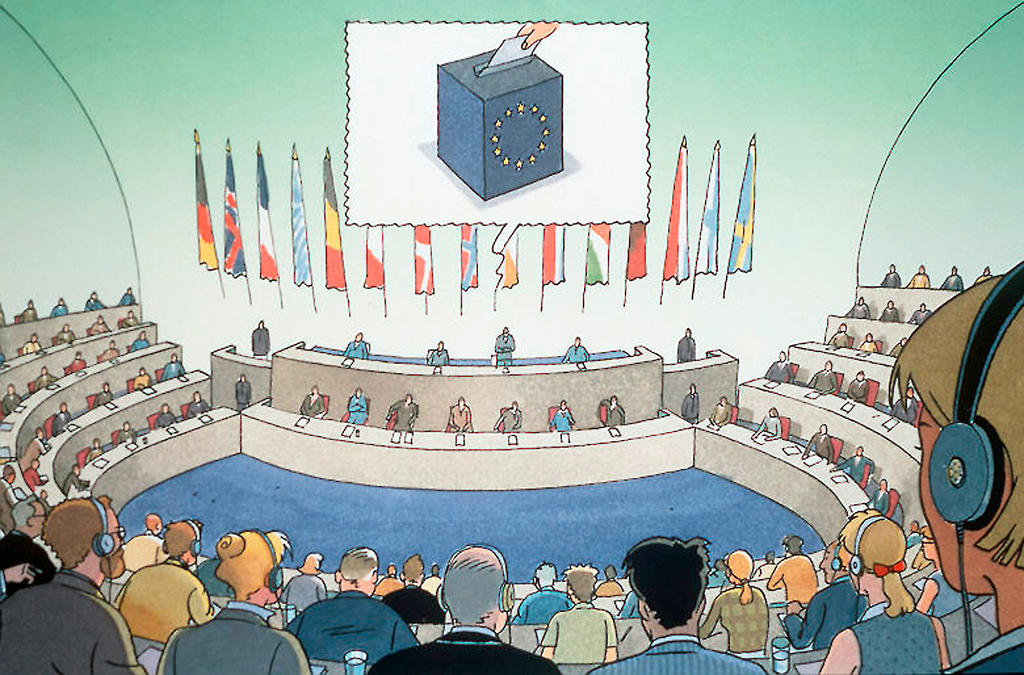 Sketch of the European Parliament
