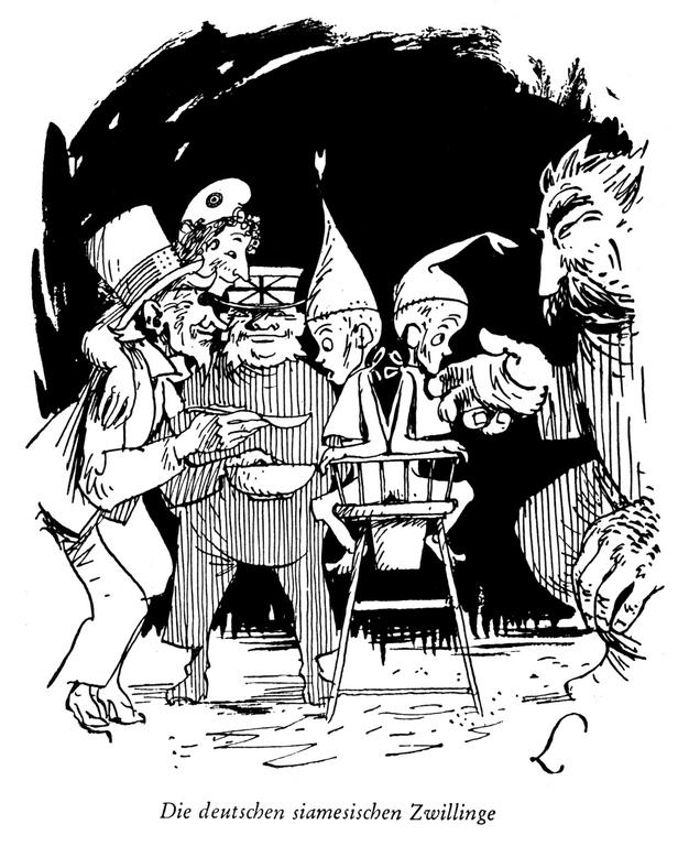 Cartoon by Lang on post-war Germany (24 February 1948)
