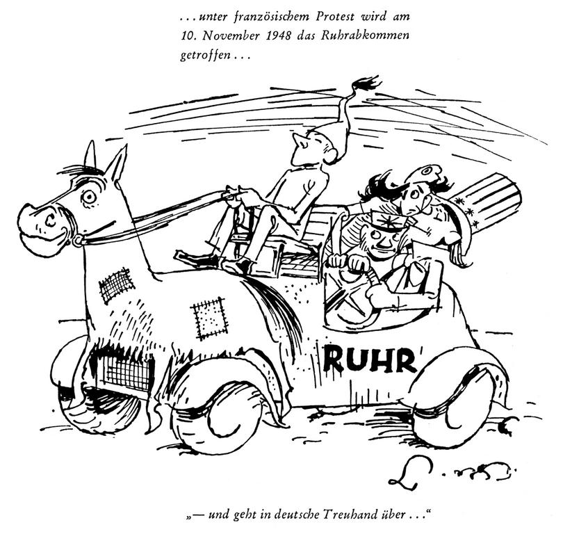 Cartoon by Lang on the control of the Ruhr (13 November 1948)