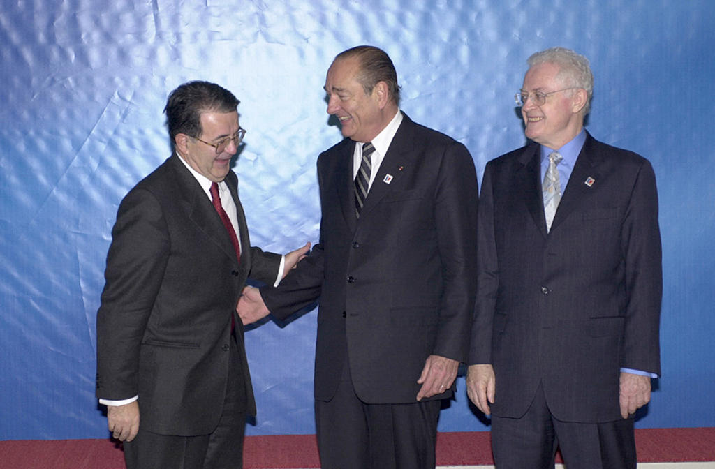 Romano Prodi, Jacques Chirac and Lionel Jospin at the Nice European Council (7 December 2000)