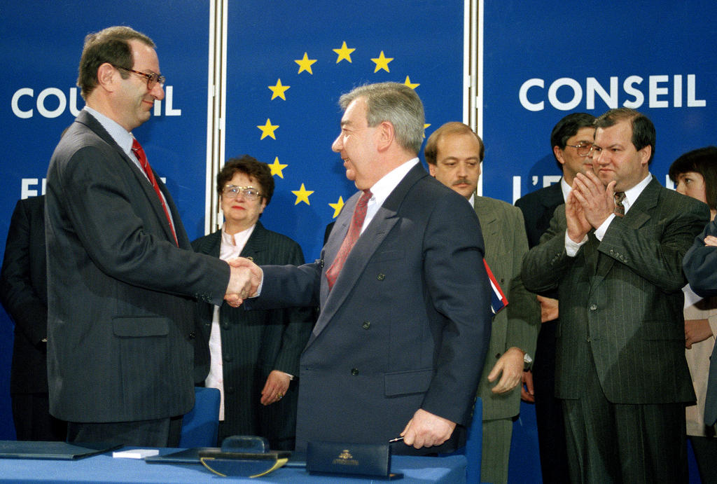 Ceremony marking Russia's accession to the Council of Europe (28 February 1996)