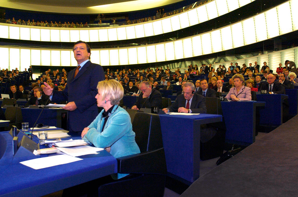 Vote on the approval of the Barrasso Commission (Strasbourg, 18 November 2004)