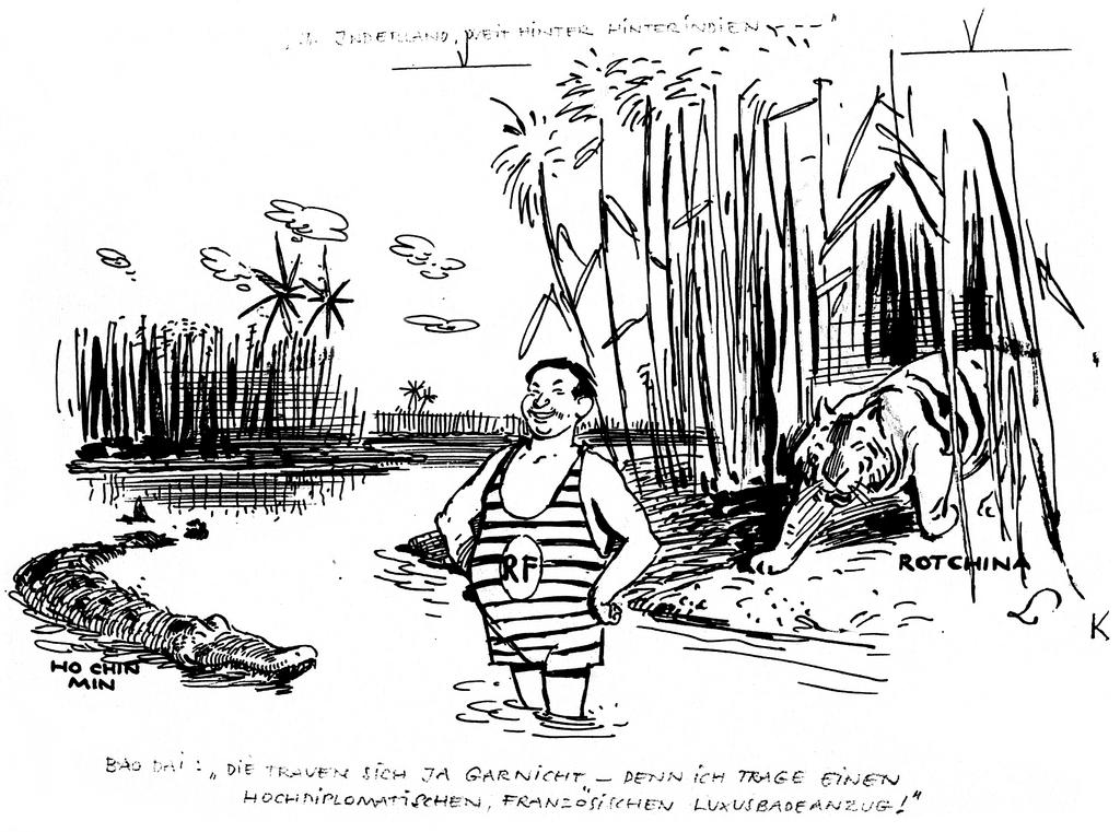 Cartoon by Lang on the war in Indo-China (2 February 1950)