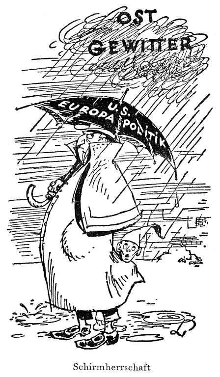 Cartoon by Lang on US policy concerning West Germany (17 January 1949)