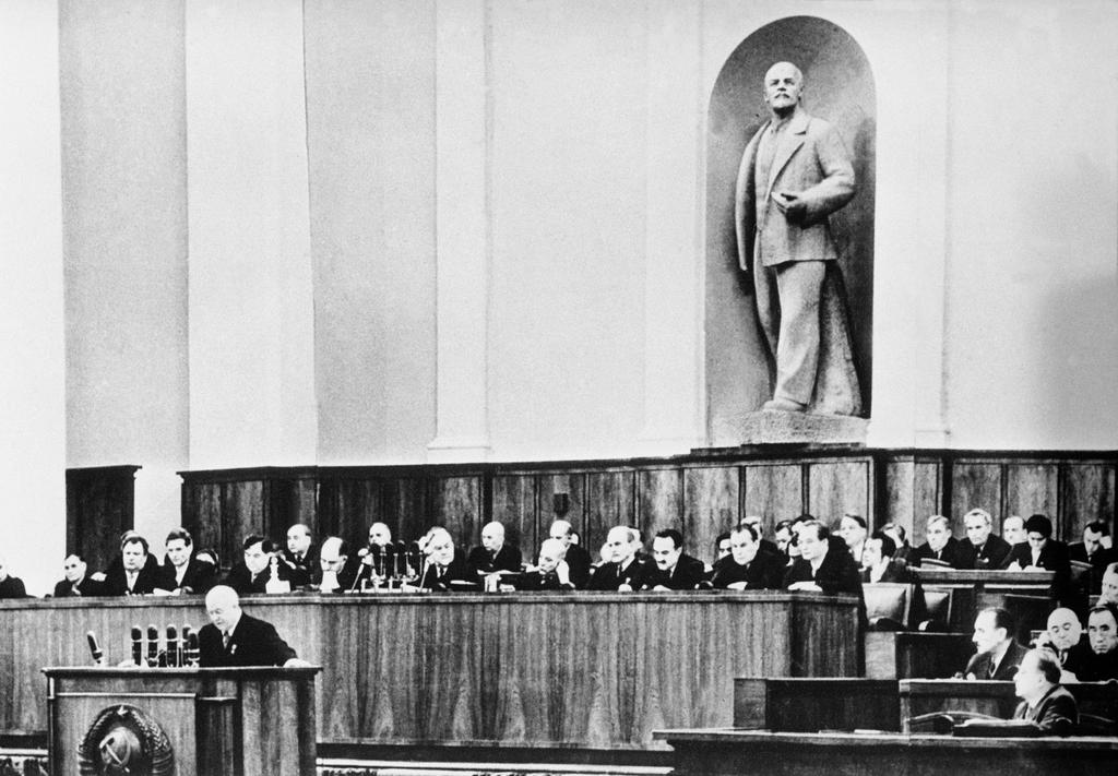 Nikita Khrushchev at the 20th Congress of the CPSU (1956)