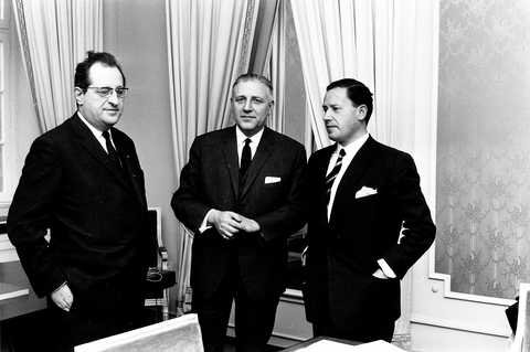 Pierre Werner, Jean Dupong and Gaston Thorn (Luxembourg, 20 January 1969)