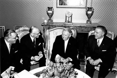 Pierre Werner and Ludwig Erhard (Luxembourg, 4 May 1964) (II)