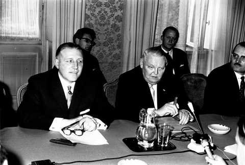 Pierre Werner et Ludwig Erhard (Luxembourg, 4 mai 1964) (I)