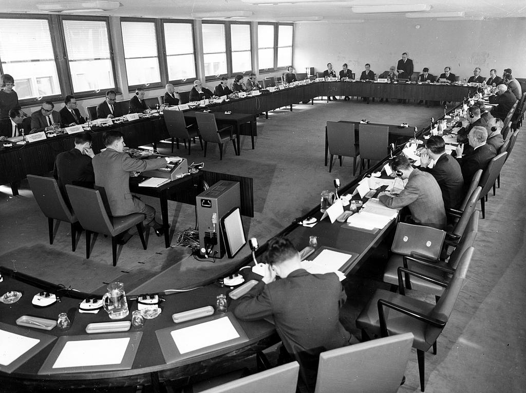 Committee room of the Council of Europe's Consultative Assembly