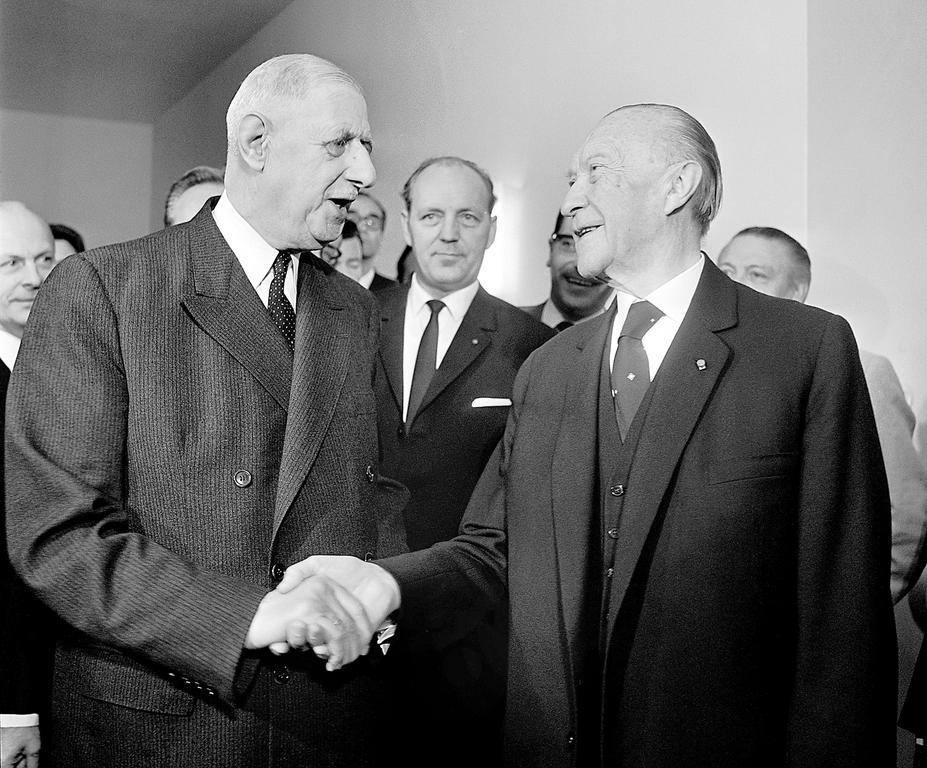 6e sommet franco allemand konrad adenauer et charles de gaulle 12 juin 1965 cvce website. Black Bedroom Furniture Sets. Home Design Ideas