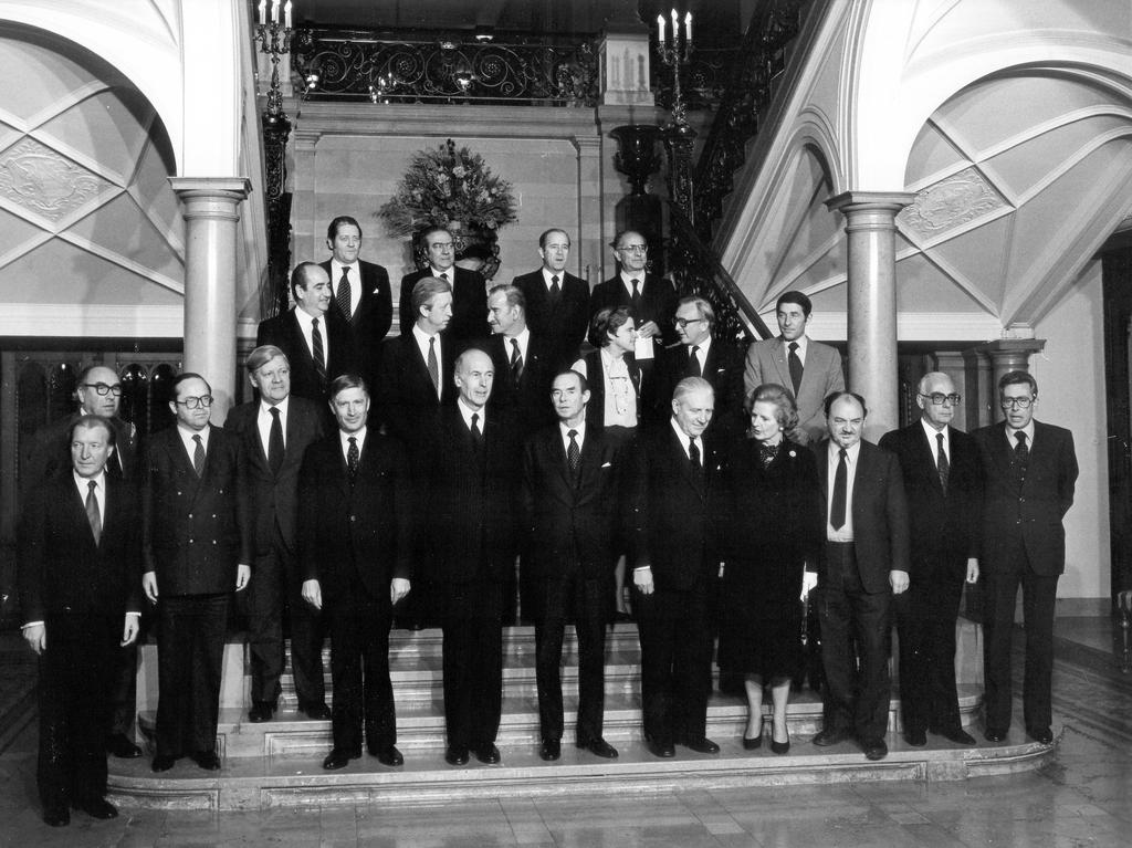Group photo of the Luxembourg European Council (Luxembourg, 1 and 2 December 1980)