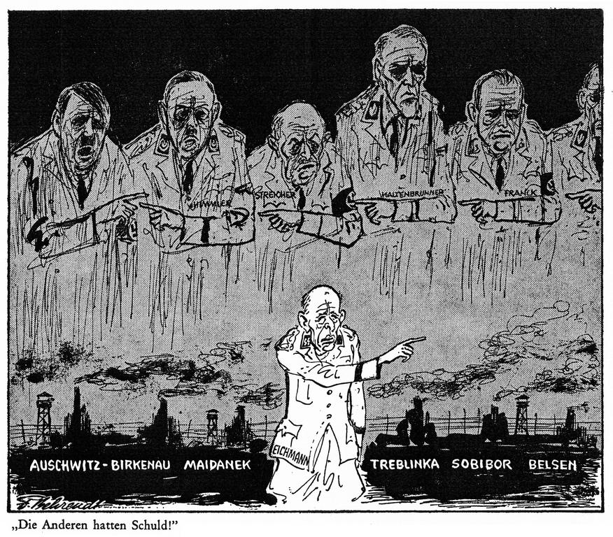 Cartoon by Behrendt on the Final Solution