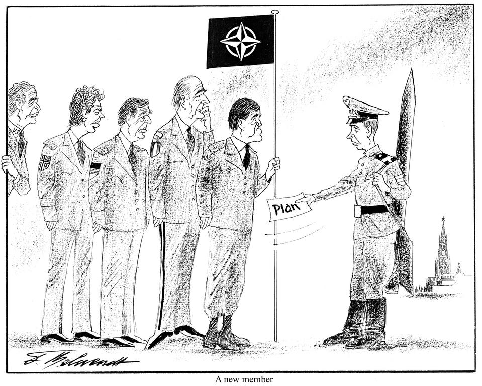 Cartoon by Behrendt on the new relations between NATO and Russia