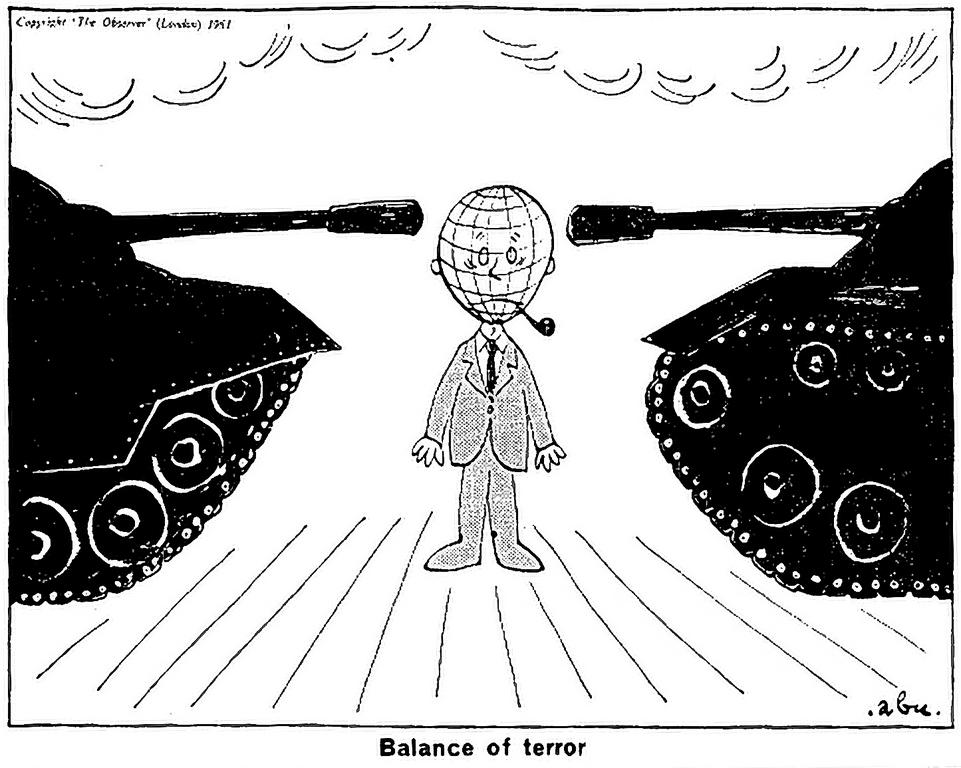 Cartoon by Abu on Cold War (29 October 1961)