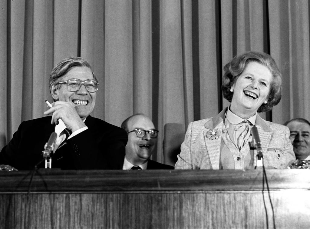 Helmut Schmidt and Margaret Thatcher (London, 10–11 May 1979)