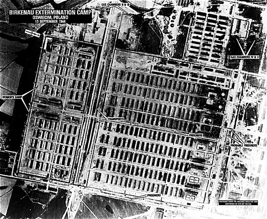Aerial view of Birkenau Concentration Camp (Poland, 13 September 1944)