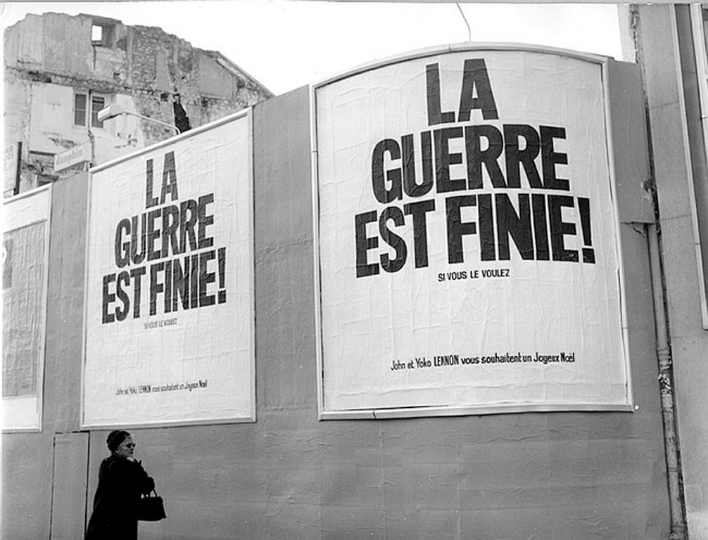 Poster: 'War is over! If you want it' (Paris, December 1969)