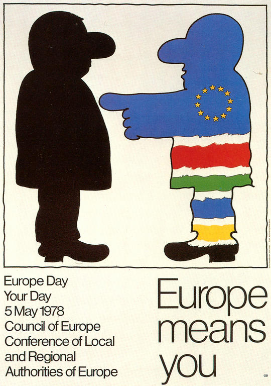 Council of Europe poster on Europe Day (5 May 1978)
