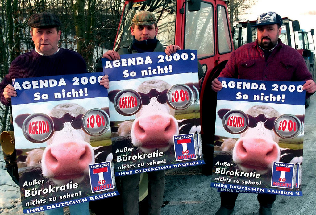 German farmers protesting against Agenda 2000 (Strasbourg, 10 February 1999)