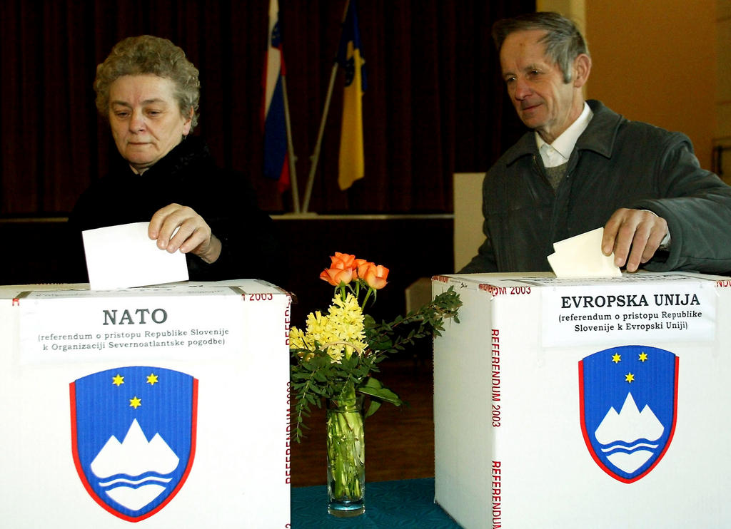 Referendum in Slovenia on the country's accession to the European Union (Ljubljana, 23 March 2003)