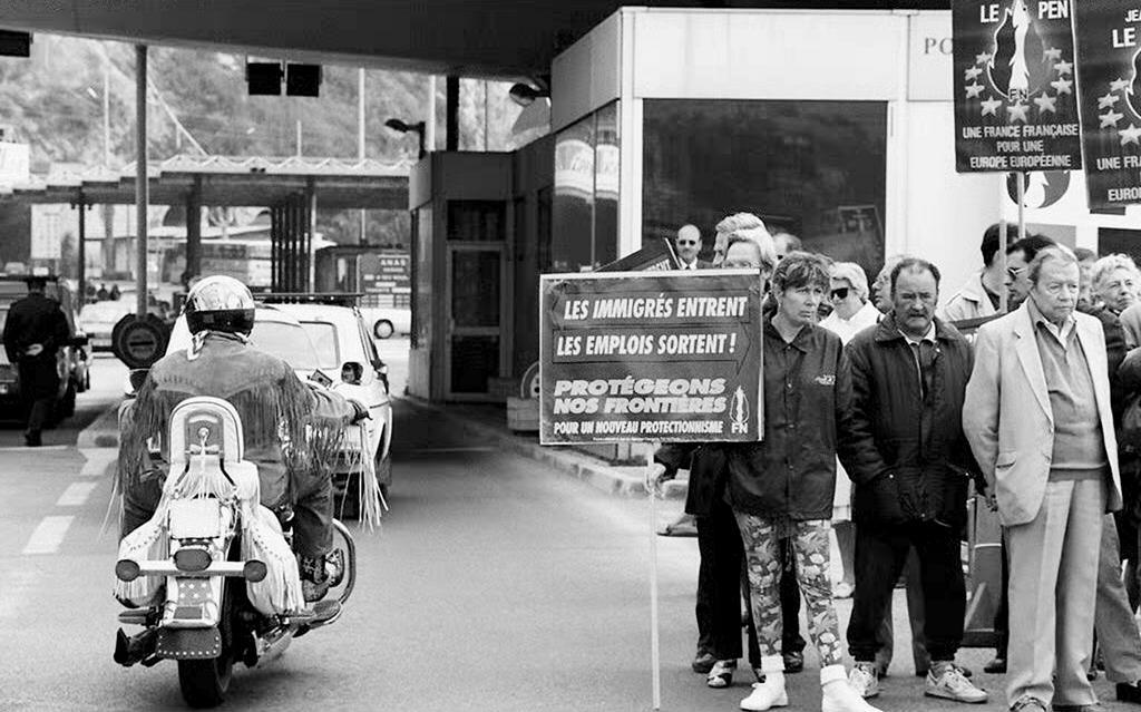 Demonstration Against The Schengen Agreement Menton 25 March 1995