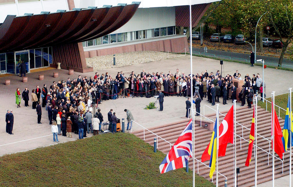 Celebrations to mark the 50th anniversary of the European flag (Strasbourg, 16 November 2005)