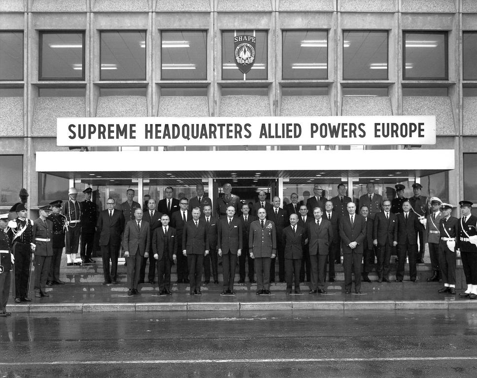 Official opening of the new Supreme Headquarters Allied Powers Europe (Casteau, 31 March 1967)