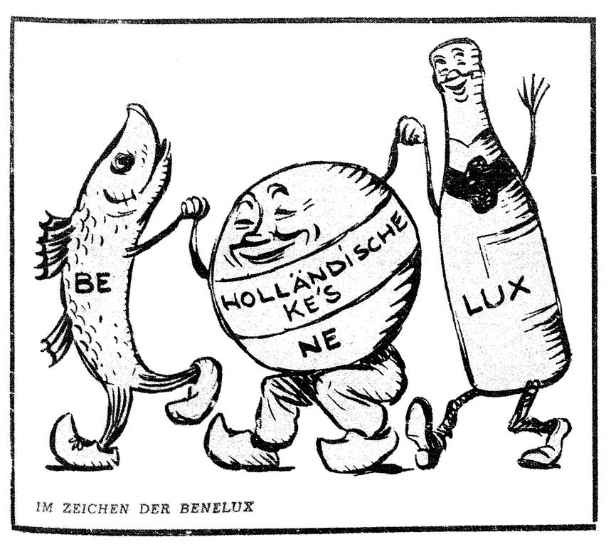 Cartoon by Simon on the Benelux (23 March 1948)