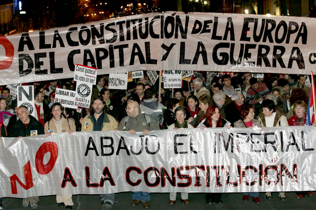 Demonstration against the European Constitution (Madrid, 20 January 2005)