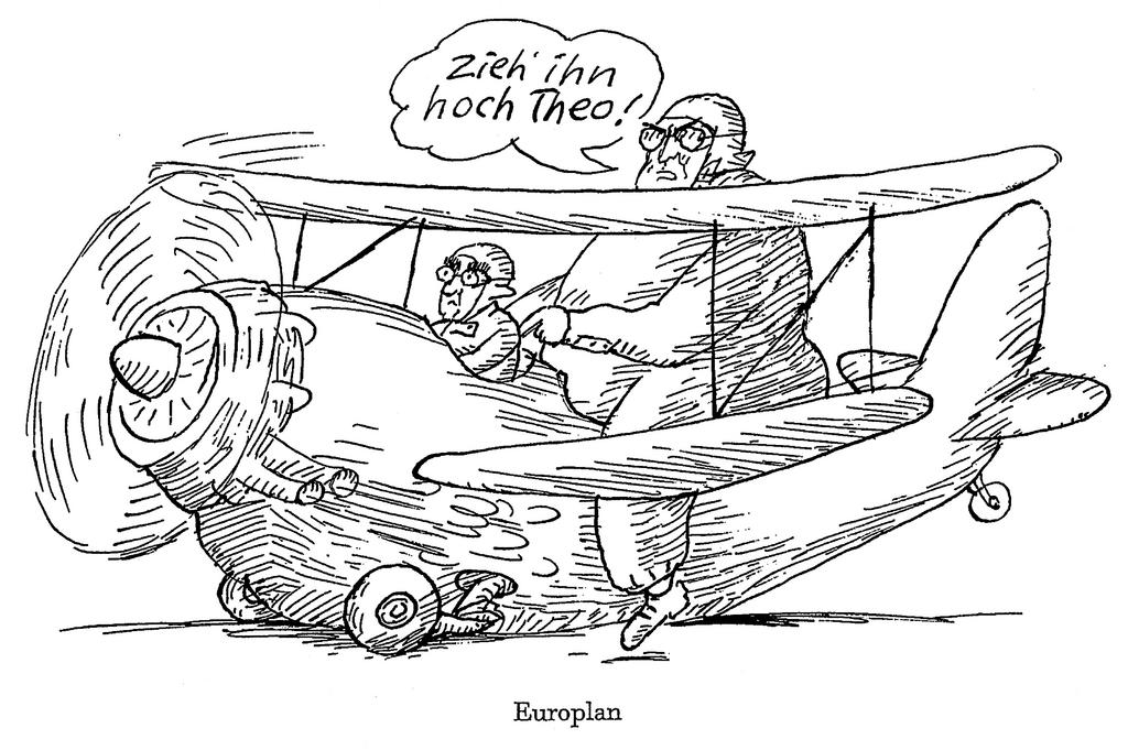 Cartoon by Murschetz on Germany and the euro (1998)
