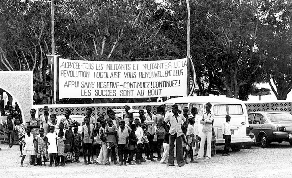 Demonstrators in support of the Lomé II Convention (31 October 1979)